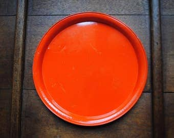 orange iron metal summersun platter tray