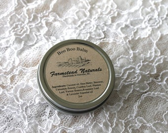 Boo Boo Balm, Healing, Herbal Remedy, Natural, Handmade, Comfrey, Yarrow, Rosemary, Lavender, Plantain, Salve, Balm, First aid, mom gift,mom