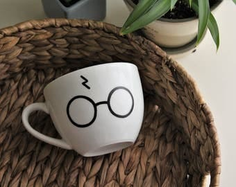 Harry Potter cappuccino cups decorated by hand
