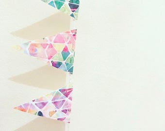 Multicoloured Geometric Bunting