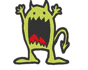 scary monster Embroidery file Digital embroidery files Machine embroidery