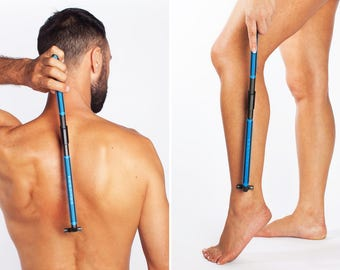 EVOLVE Body Razor - Back Shaver, Leg Shaver, Body Shaver, Long Folding Handle