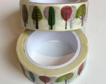 Watercolour Trees Washi Tape
