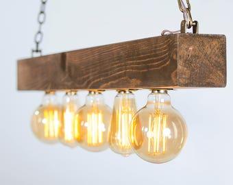 Ceiling Light,  Wood Fixture, Reclaimed Wood Light,  Rustic Light,  Home Fixture,  Rustic Lighting,  Kitchen Lighting,  Restaurant  Lighting