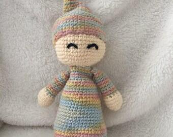 Amigurumi crochet sleepy baby