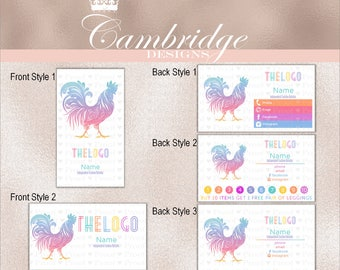 Rooster Inspired By LuLaRoe Business Cards - Home Office Approved Fonts and Colors Business Card, Digital