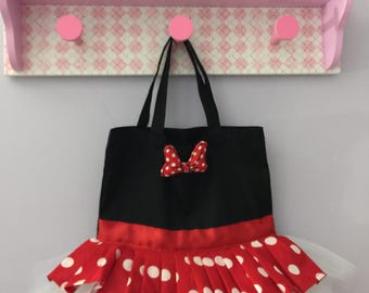 Minnie mouse inspired tutu bag