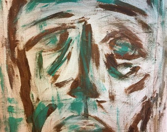 """Abstract face 14""""x11"""""""