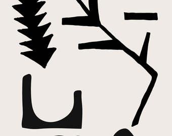 Minimal Abstract Geometric Art Print