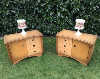 Vintage bedside night table chest of drawers