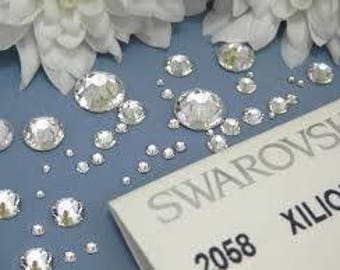 Swarovski crystals flat back stones gems rhinestones non hotfix 1000 piece crystal clear ss 1.3mm