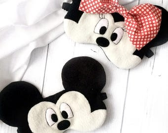 Mickey Mouse sleep mask, Minnie Mouse, Disney, Sleep mask for couple, Eye Mask, Mickey Mouse eye mask, Sleeping mask, Sleep mask