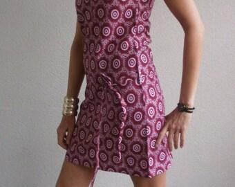 "Dress minimalist WAX ""Swahili"" - creator Rastalafe"