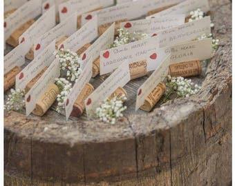 120 Wine Cork Placecard Holders