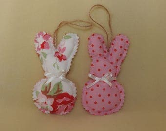 Hand stitched bunny decorations