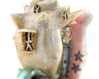 Fairy Garden Miniature Dollhouse Conch Condo Shell House