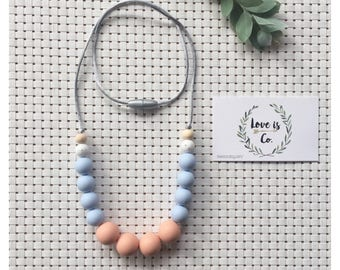 Pastel perfection ~ silicone teething necklace