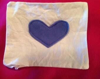 Handmade felt heart pillow!