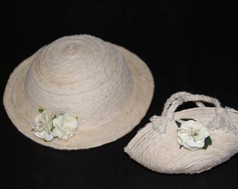 Blythe. Matching bag and hat. Hand made.