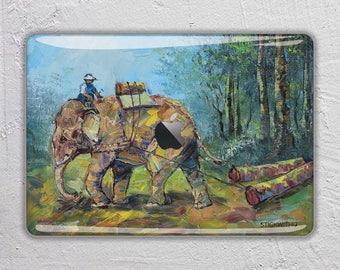Animal macbook skin painting macbook decal elephant macbook sticker oil paint macbook cover macbook pro skin macbook air 13  FSM207