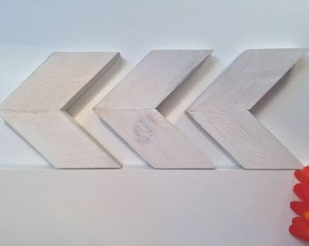 Wooden Arrows, Rustic Arrows, Wall Art, Chevron Arrows, Arrow Sign, Chevron Art, Geometric - Set Of Three