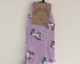 socks unicorn one size