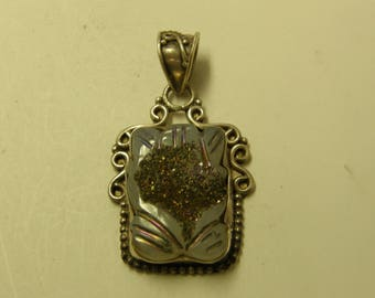 Sterling Silver Handcrafted Gemstone Pendant - Very Pretty