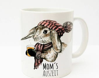 Gift mug with rabbit moms break TS194