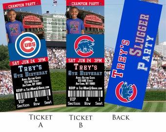 Chicago Cubs Ticket Invitation