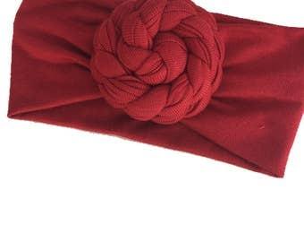 Rose knot headbands