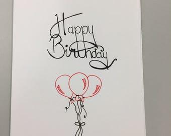 Birthday Three Balloon