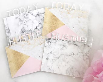 Marble Planner Page Markers | fits any planner!