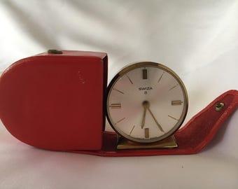 Swiza 8 Vintage Travel Alarm Clock