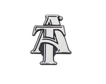 North Carolina A&T Chrome Metal Auto Emblem