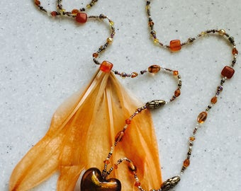 Autumn Leaf warm color necklace