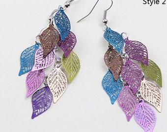 Leaf colorful Earings