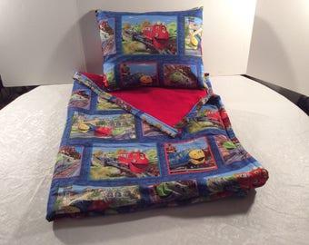 Chuggington blanket and pillow