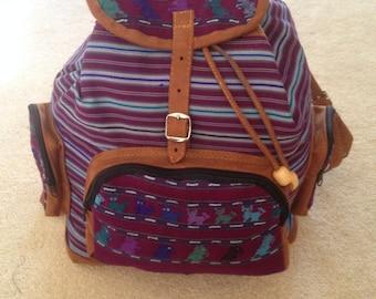 Hand Stitched Guatemalan Backpacks