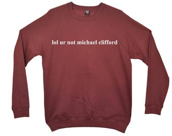 lol ur not michael clifford Five Seconds Of Summer Sweatshirt