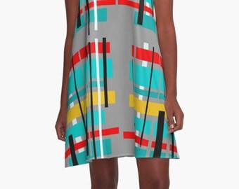 Summer Dress, Womens Gift, Dress, Party Dress, Retro Dress, XL Dress, Retro, Mini Dress, Mod Dress, Pink Dress, Casual Dress