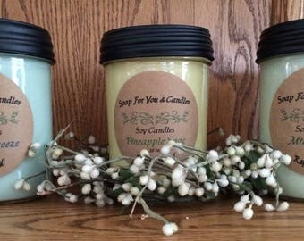 100% Soy Wax 16 OZ Candles