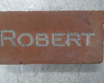 Monogram Engraved Brick