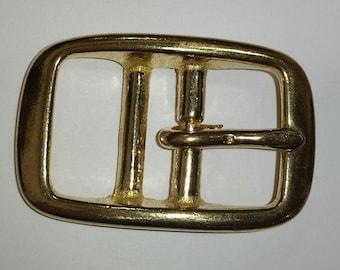 Halter buckle - neck strap buckle brass 2 piece