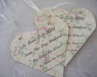 Heart Wedding Tags Digital KIT