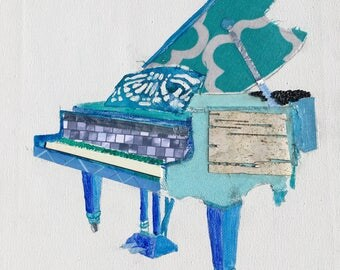 Grand Piano Multi-Media Painting