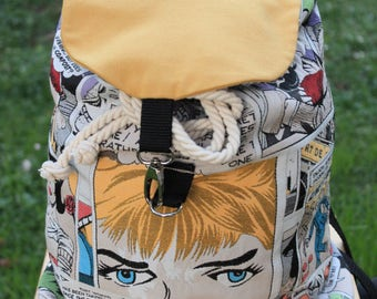 Handmade backpack in gobelin_Fumetti
