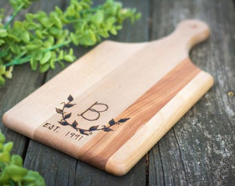 Personalized Wooden Cutting Board and Spoon Gift Set