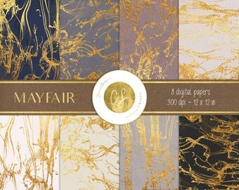 Gold digital paper, marbled gold paper, gold background, elegant paper,neutral gold paper,instant download,scrapbook paper,invitation paper