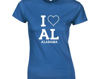 I love Alabama Womens T shirt