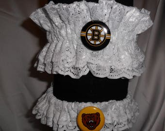 Boston Bruins Hockey Wedding Garter